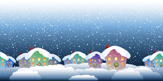 Christmas village pattern Stock Photos