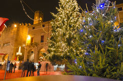 The Christmas village of Rimini Stock Images