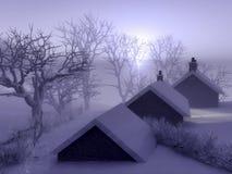 Christmas village Stock Photos