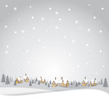 Christmas vintage backdrop. Christmas with snow greeting card, background and backdrop, vector Stock Photos