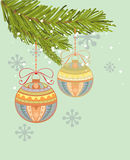Christmas vintage background Royalty Free Stock Images