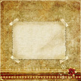 Christmas vintage background with a card for congratulations Royalty Free Stock Photo