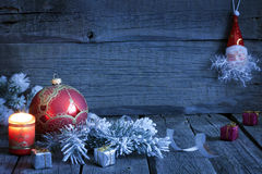 Christmas vintage background in night stock photography