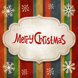 Christmas vintage background Stock Images