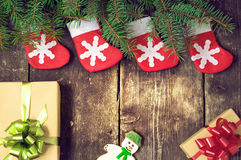 Christmas vintage backgrounds Royalty Free Stock Photos