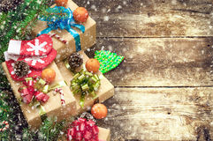 Christmas vintage backgrounds Stock Images