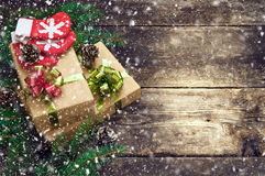 Christmas vintage backgrounds Stock Photography