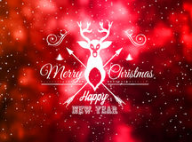 Christmas Vintage Blurred Background with Greetings Typing. For outstanding greeting card or dinner invitations Royalty Free Stock Photos