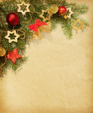 Christmas vintage border. Royalty Free Stock Photography