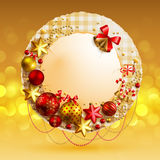 Christmas vintage bubble Stock Images