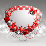 Christmas vintage bubble Stock Image