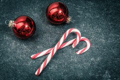 Christmas vintage candys Stock Images