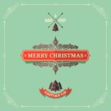 Christmas vintage card background Stock Photos