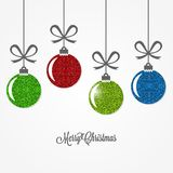 Christmas vintage card with christmas balls design background. 10 eps Royalty Free Stock Image