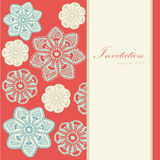 Christmas vintage card, lace snowflakes,  Royalty Free Stock Photos