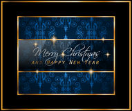 Christmas Vintage Classic Background with balls and star lights. With a lot of space for text. Ideal  for outstanding greeting card or dinner invitations Stock Image