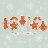 Christmas vintage collection toys snowman retro xmas Royalty Free Stock Images