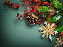 Christmas Vintage Decoration Stock Photography