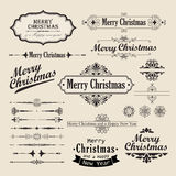 Christmas vintage design Stock Images