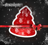 Christmas Vintage design background. With grunge style over a black wallpaper royalty free illustration
