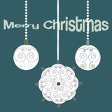 Christmas vintage elegand card with decorative balls Stock Images