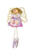 Christmas vintage flying fabric angel. Stock Photography
