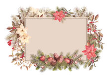 Christmas Vintage Frame Royalty Free Stock Photography