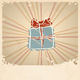 Christmas Vintage Gift Box. Royalty Free Stock Images
