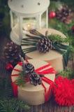 Christmas vintage gift boxes Royalty Free Stock Photo