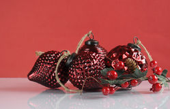 Christmas vintage glass bauble ornaments Stock Photography
