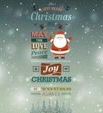 Christmas vintage greeting card. Vector illustration Royalty Free Stock Image