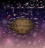 Christmas vintage greeting card stock photos