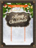 Christmas vintage greeting card. EPS 10 Stock Images