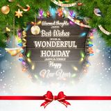Christmas vintage greeting card. EPS 10 Royalty Free Stock Images