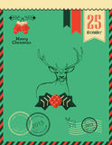 Christmas Vintage Greeting Card with Typography. Stock Image