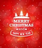 Christmas vintage greeting card. Vector illustration stock illustration