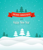 Christmas vintage greeting card. Vector illustration royalty free illustration
