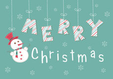 Christmas vintage greetings lettering Royalty Free Stock Photography