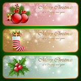 Christmas vintage horizontal banners. Stock Photography