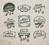 Christmas Vintage Icons, Elements And Royalty Free Stock Image