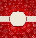 Christmas vintage invitation with snowflakes Stock Photos