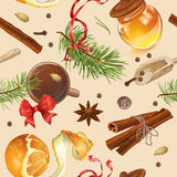 Christmas vintage pattern Royalty Free Stock Photography