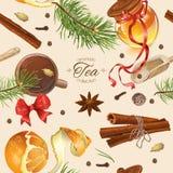 Christmas vintage pattern Stock Image
