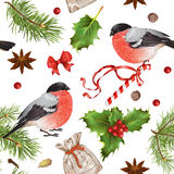 Christmas vintage pattern Royalty Free Stock Photo
