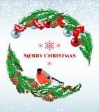Christmas vintage postcard Stock Photography