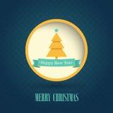 Christmas vintage postcard. Royalty Free Stock Image