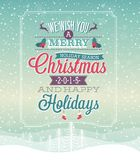 Christmas vintage Poster. Vector illustration Stock Image