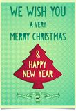 Christmas vintage poster with wishes Royalty Free Stock Images