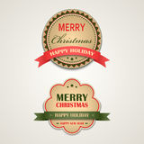 Christmas vintage retro design style element Stock Images