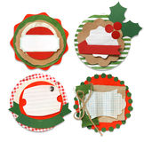 Christmas vintage scrapbook. Elements Royalty Free Stock Photos